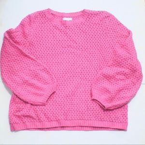 14th & UNION Pink Popcorn Knit Sweater